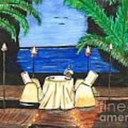 Tiki Light Dining Poster