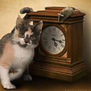 Time For Cat And Mouse Poster