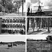 Timeless Brabant Collage - Black And White Poster