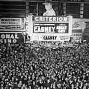 Times Square Election Crowds Poster