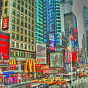 Times Square One Poster by Alberta Brown Buller