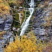 Timpanogos Waterfall In The Fall - Utah Poster
