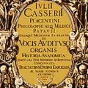 Title Page, Giulio Casserios Anatomy Poster