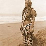 Tolowa Womans Primitive Dress Poster