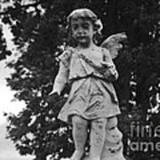 Tombstone Angel Bw Poster