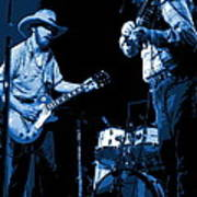 Tommy And Charlie Play Some Blues At Winterland In 1975 Poster