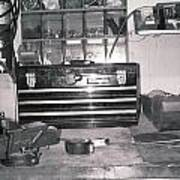 Tool Box And Clamp Work Area Poster