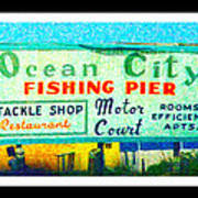 Topsail Island Old Sign Poster
