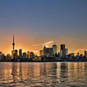 Toronto At Sunset Poster