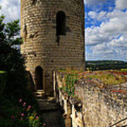 Tour Du Moulin At Chateau Chinon Poster