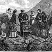 Tourists At Vesuvius, 1872 Poster