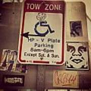 Tow Zone Collage Poster