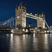 Tower Bridge Dusk Poster