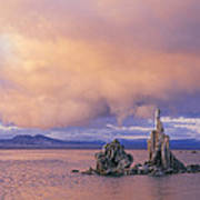 Towers Of Calcium Carbonate Called Tufa Poster