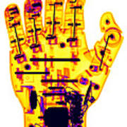 Toy Robotic Hand X-ray Poster