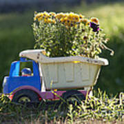 Toy Truck Planter Poster