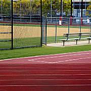 Track And Baseball Diamond Poster