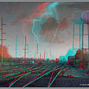 Tracking The Storm - Red-cyan Filtered 3d Glasses Required Poster