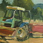 Tractor In Italy Poster
