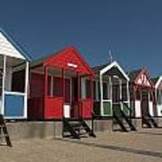 Traditional Beach Huts On The Seafront Poster