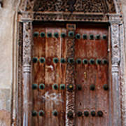 Traditional Carved Door Poster