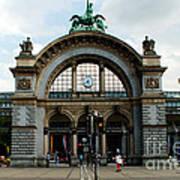 Train Station At Lucerne Poster