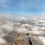 Train Tracks Into The Clouds Poster