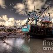 Trawler At New Quay Poster