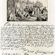 Treaty Between William Penn Poster