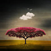 Tree And Clouds Poster
