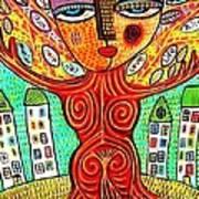 Tree Blessing Goddess Poster