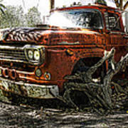 Tree Truck Poster by Peter Chilelli