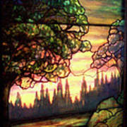 Trees Stained Glass Window Poster