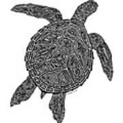 Tribal Turtle IIi Poster by Carol Lynne