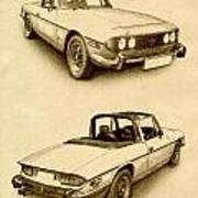 Triumph Stag Poster by Michael Tompsett