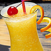 Tropical Orange Drink Poster