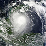 Tropical Storm Karl Over The Yucatan Poster