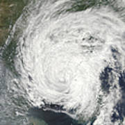 Tropical Storm Muifa Over China Poster