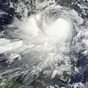 Tropical Storm Nock-ten Poster