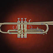 Trumpet Red Spotlight  Poster