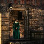 Tudor Lady In Doorway Poster