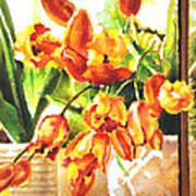 Tulipes A La Fenetre Poster