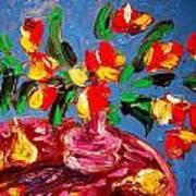Tulips Vase Poster