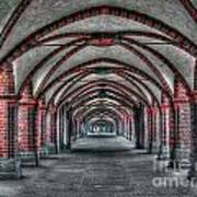 Tunnel With Arches Poster