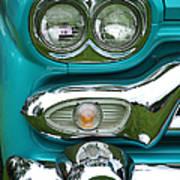 Turquoise Headlight Poster