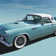 Turquoise T-bird Poster