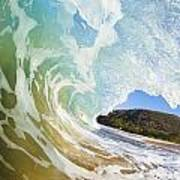 Turquoise Wave Breaking On Makena Shore Poster