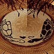 Turtles Love Digital Artwork Poster