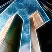 Twin Towers Poster by Paul Ward