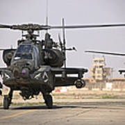 Two Ah-64 Apache Helicopters Return Poster